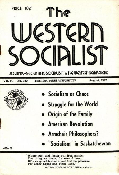 Western socialist. August, 1947