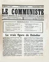 -'Le Communiste' 01-09-1933