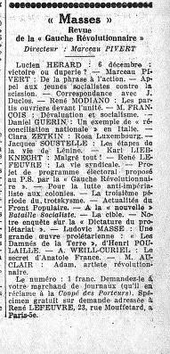 - 'Masses' 22-01-1936