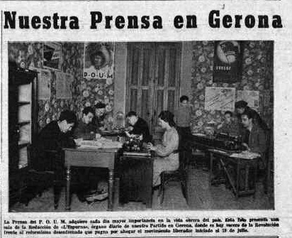 POUM - salle de presse de l'Espurna