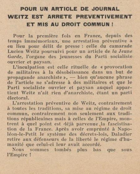 (paru dans la RP du 10-08-1939)