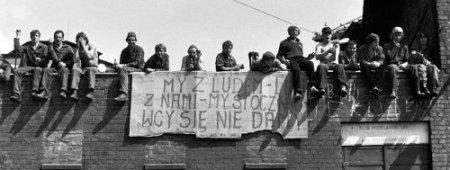 Grévistes à Gdansk en 1980