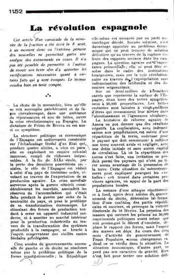 Extrait de BILAN N°35 (septembre 1936)