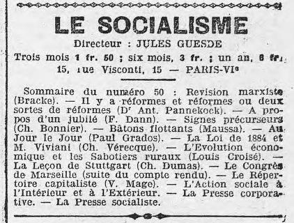 - 'Le socialisme' N°50 1908