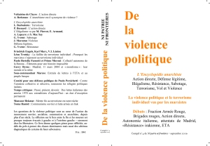 De la violence politique
