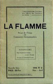 La Flamme, revue de l'Union des communistes internationalistes (1946)