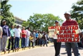 Rassemblement pour la libération de Rubén González