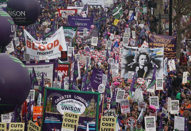 Manifestation à Londres le 26 mars 2011
