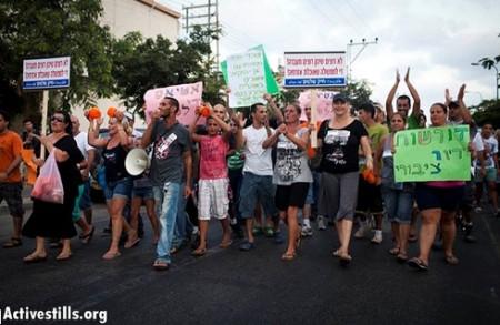 Manifestation à Tel Aviv le 2 août