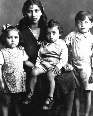 Elisabeth Emmler et ses enfants, déportés comme tziganes, et assassinés à Auschwitz
