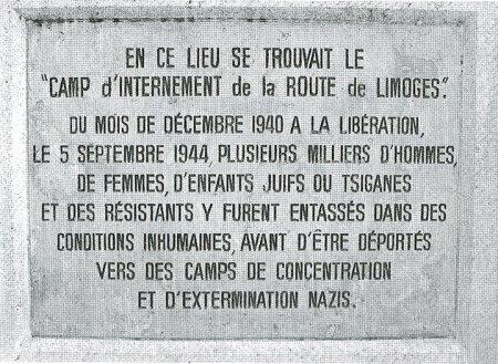 Plaque commémorative à Poitiers (France)