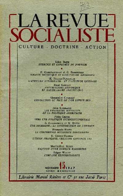 - 'La Revue socialiste' N°15_11-1947
