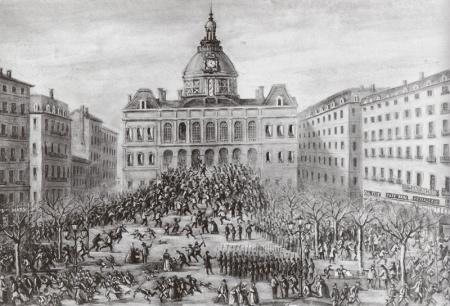 Hotel de Ville de St-Étienne le 24 mars 1871