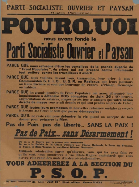 PSOP - tract Pourquoi
