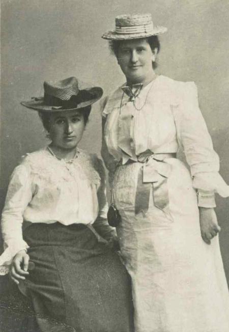 rosa avec Louise 1909