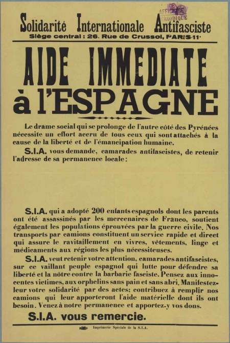 SIA - Affiche France 1937