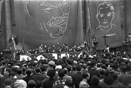 POUM - Acte de propaganda del POUM en homenatge a Miguel Pedrola 1937