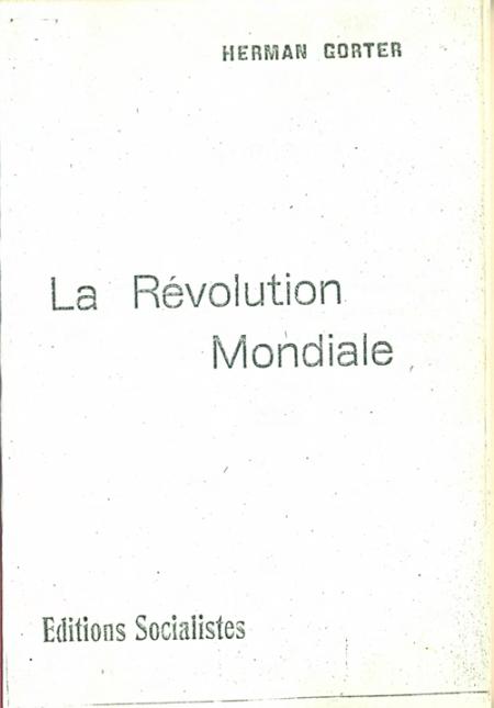 Gorter - Révolution mondiale-1