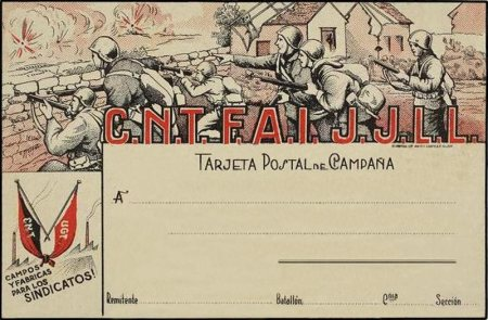 CNT - carte postale 1937