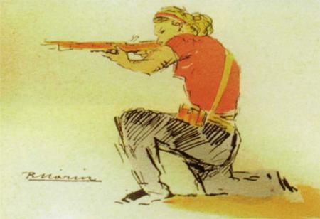 Comité des milices antifascistes - carte postale 1936